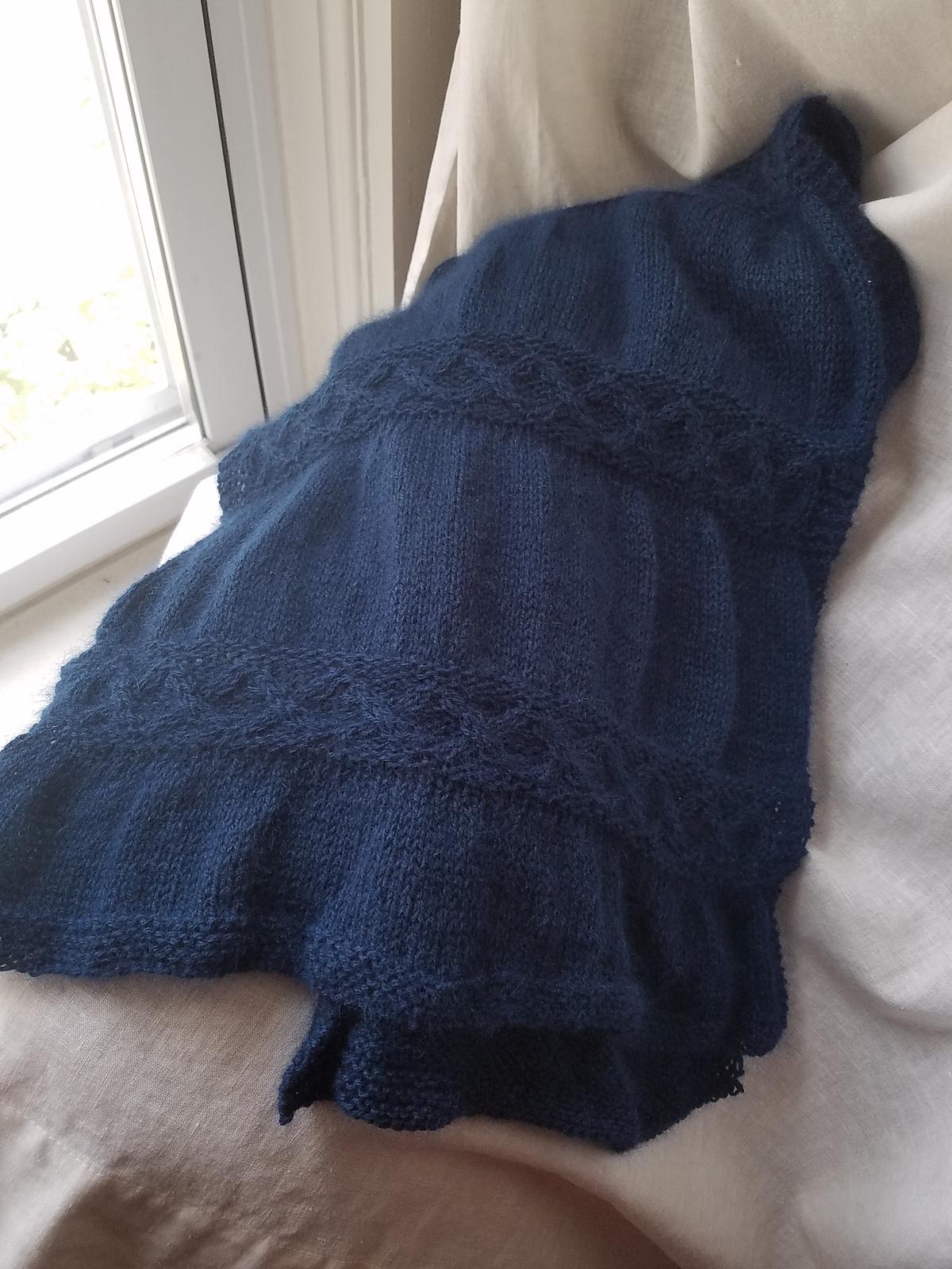 Dark blue soft scarf/shawl